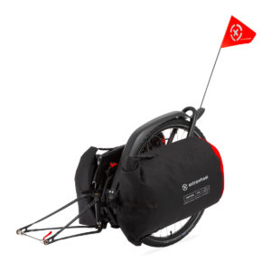Bicycle trailer BRAVE with DRIFTER Premium bags 100L