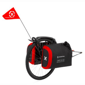 Bicycle trailer BRAVE with DRIFTER bags 100L